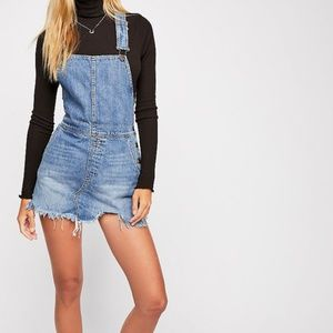 BRAND NEW Free People Overall Denim Dress